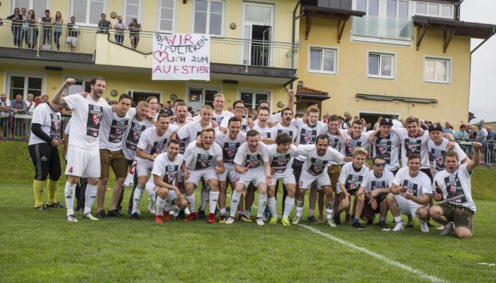 SK Adnet VS 1. Oberndorfer SK und Aufstiegsfeier